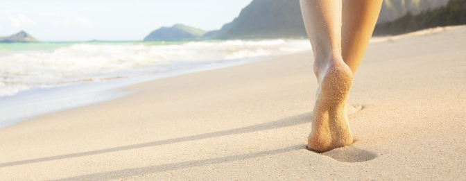 Hours, Location & Prices. Feet on Beach Hero Image